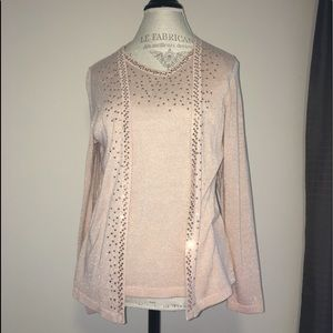 Cardigan w/attached Shell